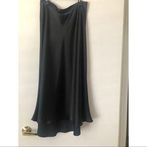 Zara Satin Slip Midi Skirt